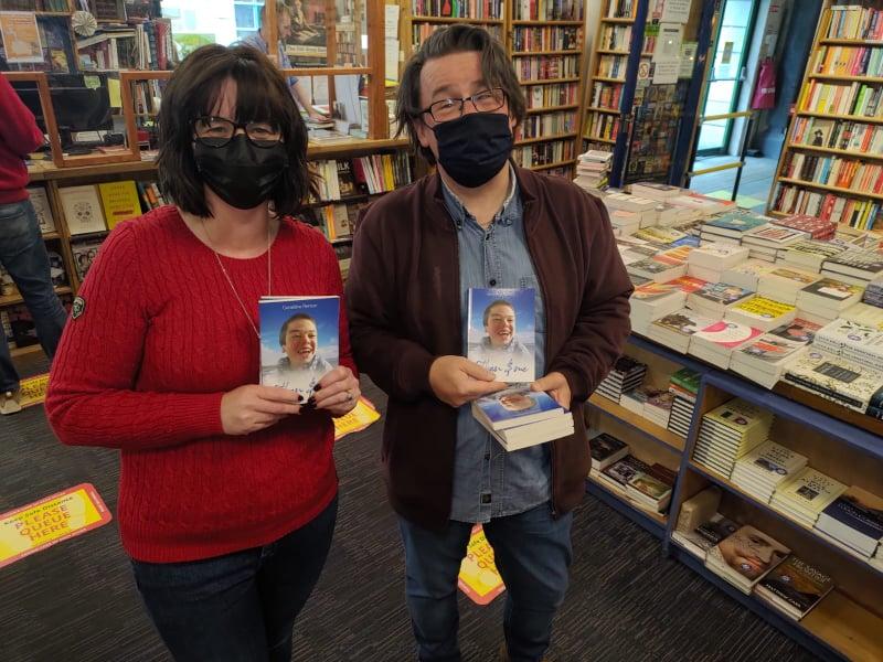 Vinny & I in Charlie Byrnes Bookshop - Galway